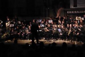 La banda del Memorial Ricard Cuadra interpreta el Concert de Patum a Barcelona, aquest dijous