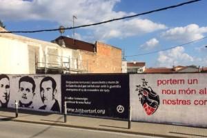 Pinten un mural a Berga en homenatge a tres anarquistes berguedans assassinats l'any 1949