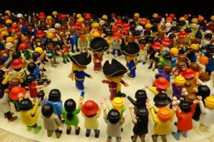 ClickPatum, l'exposició de figures de Playmobil recreant la festa, es pot veure a Barcelona