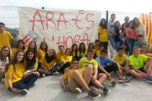 Estudiants de secundària de Puig-reig i Navàs s'han sumat aquesta setmana a la vaga pel 9-N