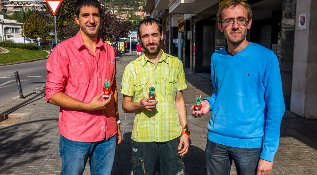 Un berguedà i dos solsonins creen la figura del caganer del ple de la Patum