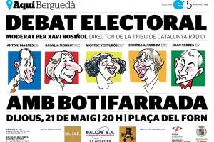 L'AquíBerguedà organitza aquest dijous l'últim debat de campanya amb els 5 candidats a l'alcaldia de Berga