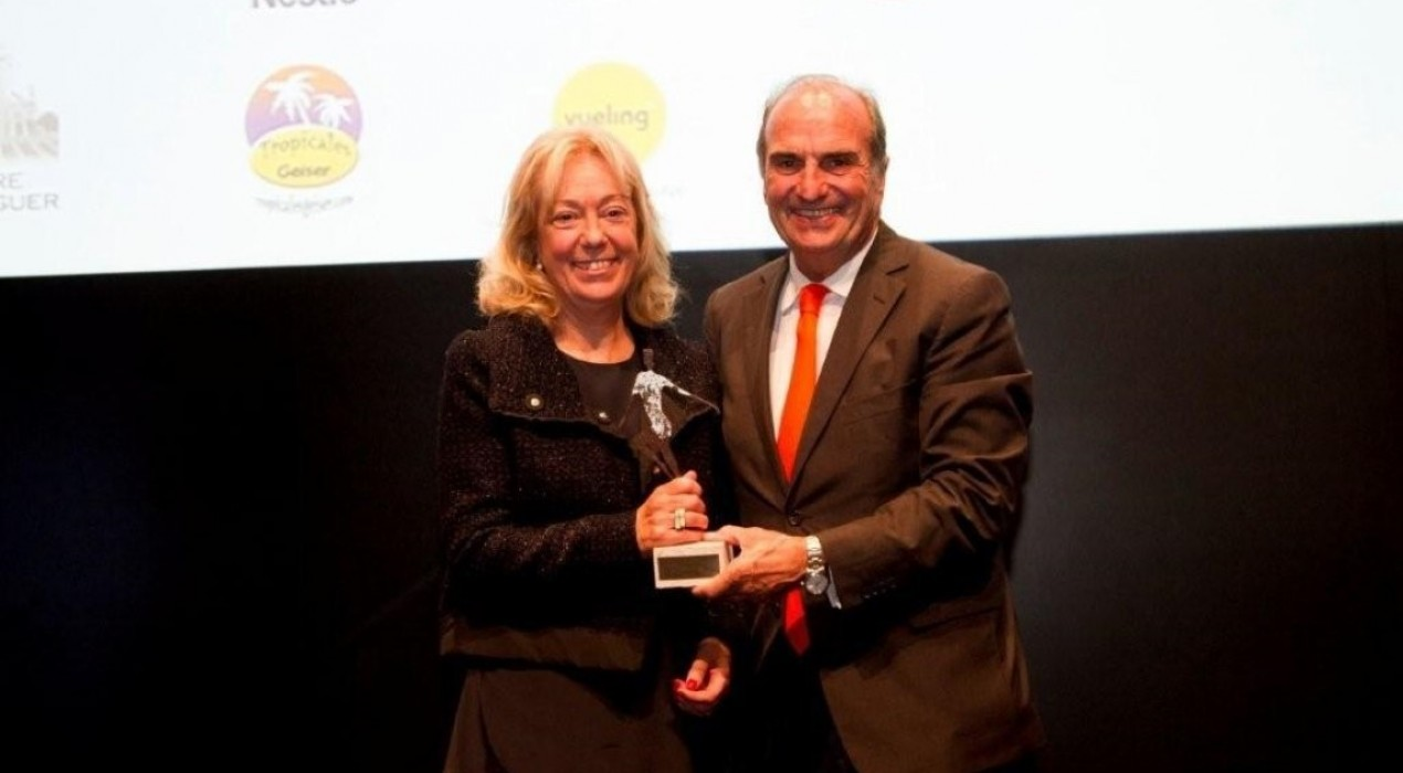 L'empresària d'Agroviver, Dolors Boix, rep un premi de la Fundació Internacional de la Dona Emprenedora