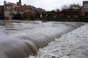 Les fortes pluges de dissabte fan augmentar els cabals dels rius i rieres de la comarca