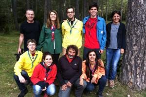 Els escoltes de Berga i els de Gironella a 'Caçadors de Bolets'