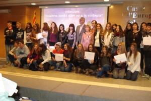El Consell Comarcal del Berguedà lliura els premis del concurs 'Nosaltres també diem no a la violència'
