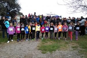 El cros escolar de l'ermita de Sant Marc, a Gironella, atrau 140 infants