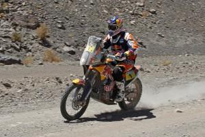 Marc Coma disputa la cinquena etapa del Dakar després que el líder Joan Barreda li ampliés avantatge a la general, on ara el d'Avià és segon