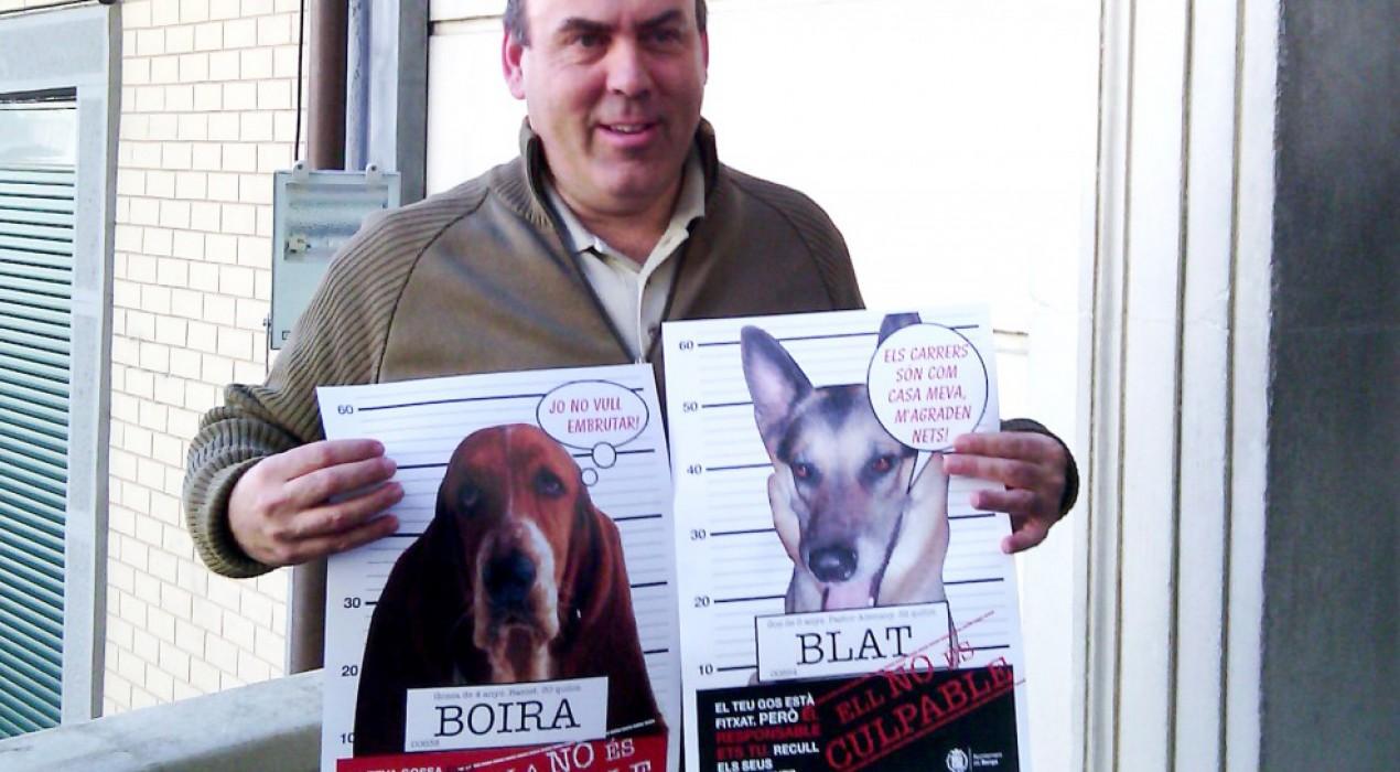 Berga enceta una campanya per conscienciar sobre la tinença d'animals domèstics prèvia a l'entrada en vigor de l'ordenança sancionadora
