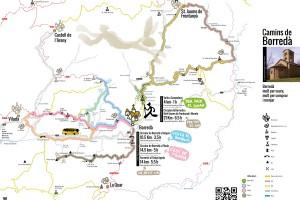 Borredà fa difusió turística amb unes estovalles individuals que inclouen 5 excursions pel municipi