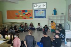 La Patum protagonitza un projecte entre l'Escola Diocesana de Navàs i alumnes de diversos països d'Europa