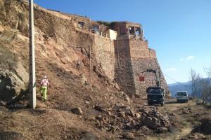 S'inicien els treballs previs a les obres d'arranjament del castell de Berga