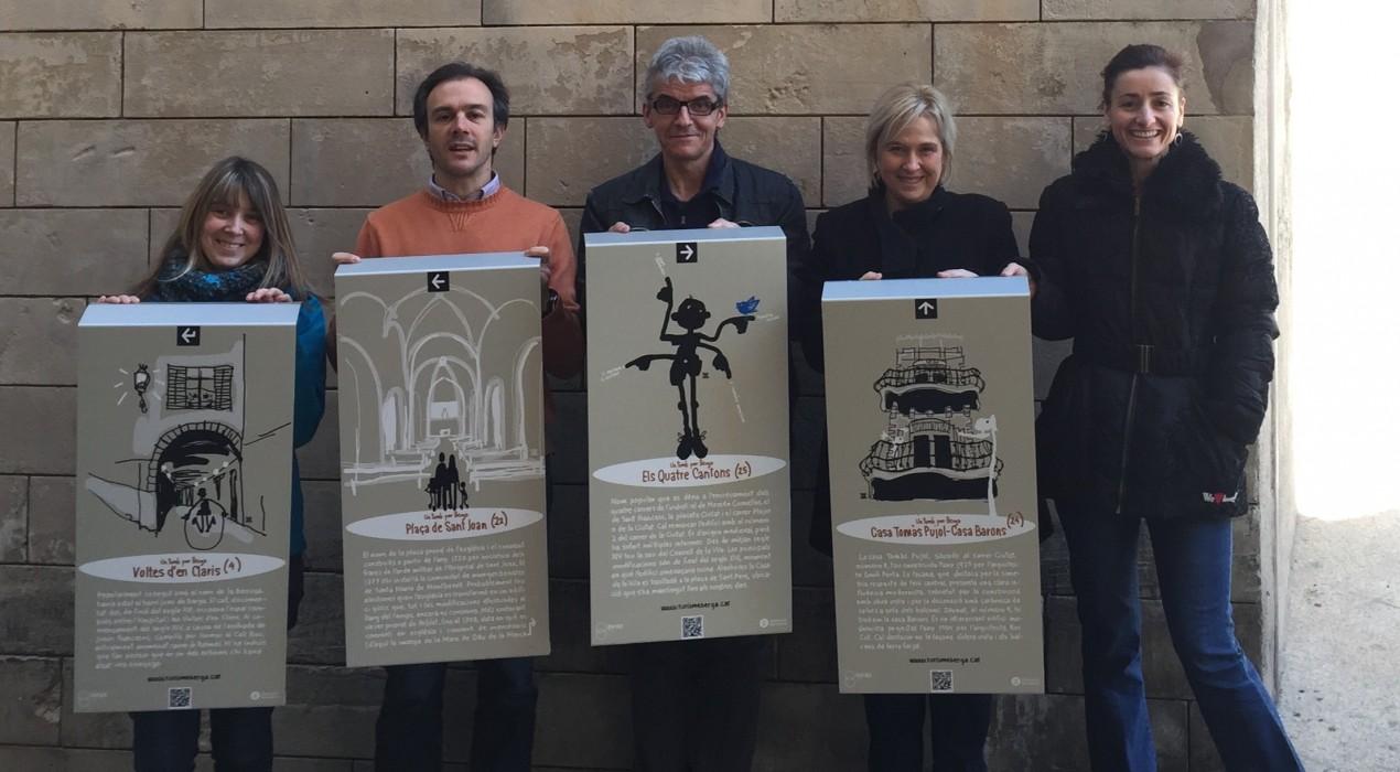 L'Ajuntament de Berga renova la senyalització de l'itinerari 'Un Tomb per Berga'