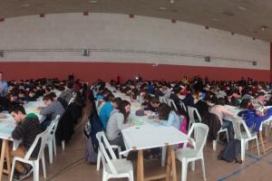 Més de 300 alumnes del Berguedà omplen el Pavelló Vell de Berga en les proves Cangur de matemàtiques