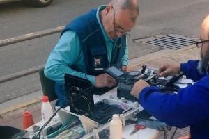 Telefónica ha començat aquesta setmana a estendre la xarxa de la fibra òptica al nucli urbà de Berga