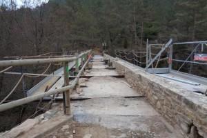 Borredà enllesteix la primera fase de la restauració del pont de Sant Joan, del segle XVIII