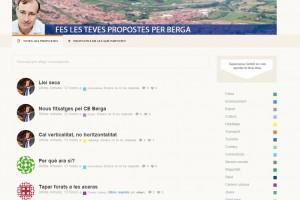 CiU posa en marxa a Berga un web de recollida de propostes per a les eleccions municipals