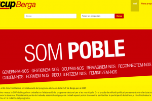 La CUP de Berga completa el programa electoral amb un web obert a la ciutadania