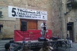 """David Fernàndez de la CUP expressa a Berga el seu suport a la candidatura local de la formació que veu """"amb moltes possibilitats"""""""