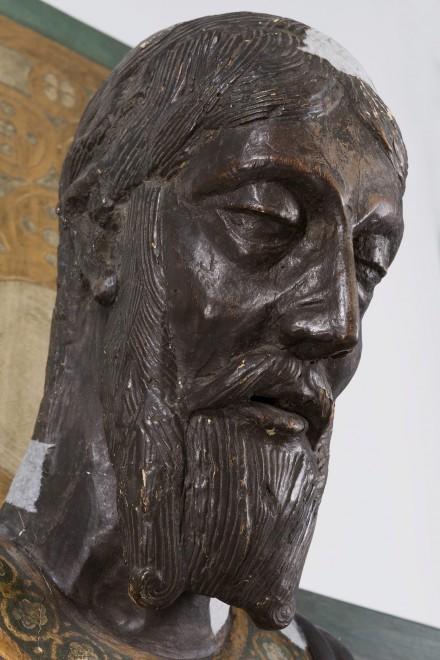 Imatge del cap abans de la seva restauració
