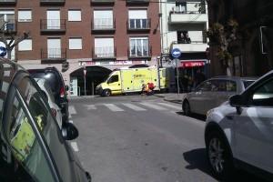Una ferida lleu en un atropellament al carrer del Roser de Berga