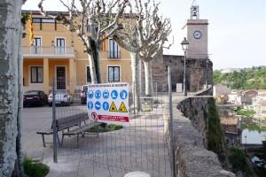 Comença la construcció de l'ascensor d'accés al nucli antic de Gironella