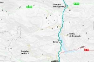 Adjudicades les obres de millora de la seguretat viària a la C-16 entre Berga i Bagà per 3,2 milions d'euros