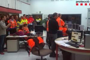 Protecció Civil realitza un simulacre d'accident de trànsit amb incendi a l'interior del Túnel del Cadí