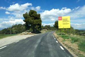 Finalitzen els treballs d'asfaltatge de la carretera que va de Castelladral a Serrateix