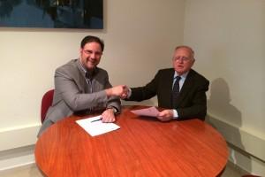 L'Agència de Desenvolupament i el Casal d'Europa signen un conveni per fomentar els valors europeus