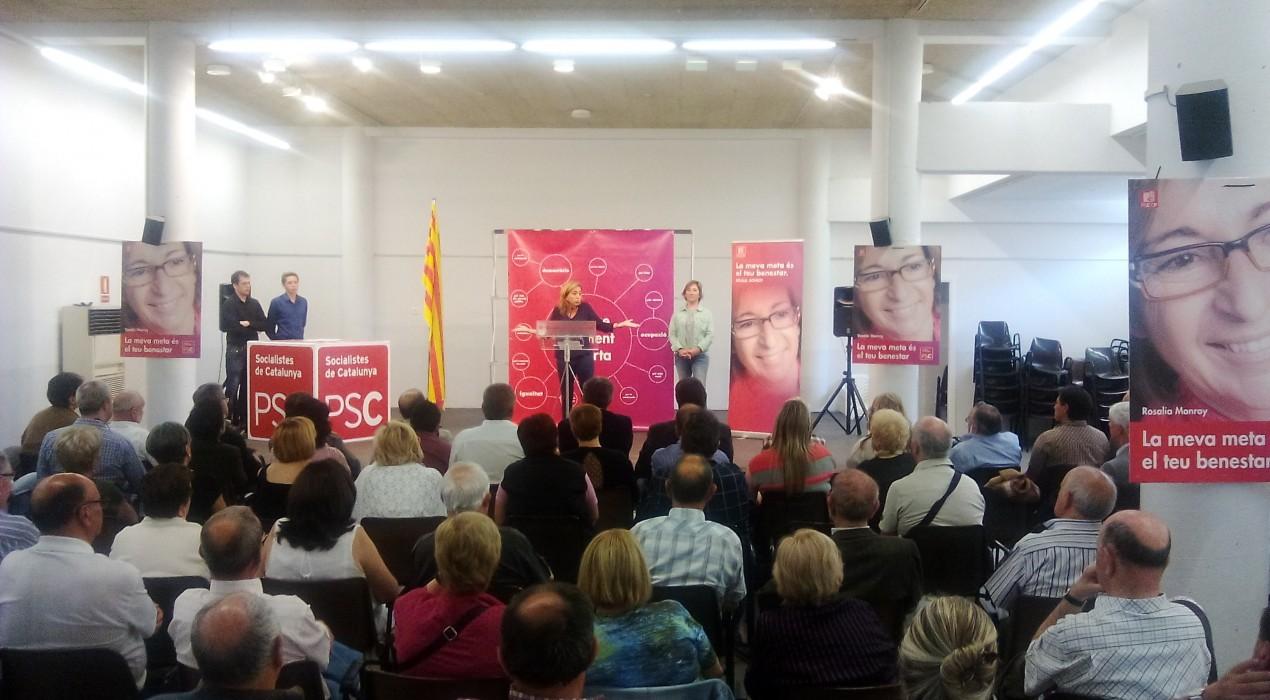 """Carme Chacón (PSC), a Berga: """"Netegem la política de gent sense ètica, en català o en castellà però cal fer net"""""""