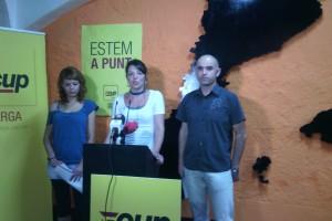 """La CUP de Berga assegura que el seu programa està pensat """"per governar"""" la ciutat"""