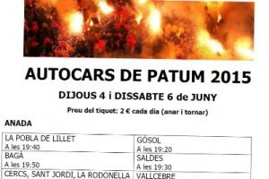 El Consell Comarcal del Berguedà organitza un servei d'autobús per anar a Patum en fins a 15 municipis