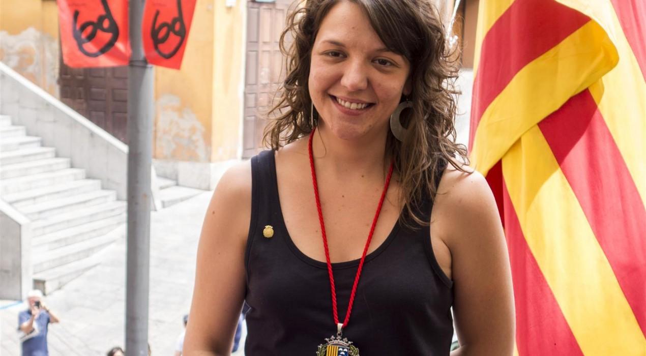 L'alcaldessa de Berga, Montse Venturós, desobeeix la justícia per segona vegada, aquest matí