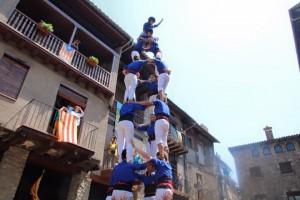 Els Castellers de Berga actuen a Vic i Bagà en un cap de setmana de plena activitat