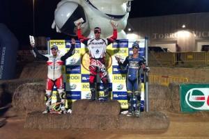 Victòria del gironellenc Franc Serra a la Copa Dirt-Track i del casserrenc Gerard Riu a Moto3 al circuit d'Alcarràs