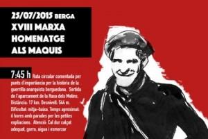 La marxa-homenatge als maquis arriba dissabte a la seva 18a edició, organitzada per Ateneu Columna Terra i Llibertat i Centre d'Estudis Josep Ester Borràs