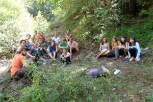 Un camp de treball internacional inicia a Borredà la restauració de l'antic Molí de la Font
