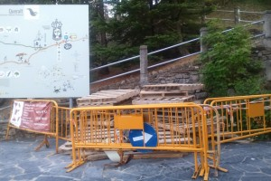 Berga inicia les obres d'arranjament i millora de la coberta de l'hostatgeria de Queralt