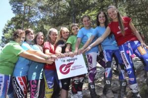 Un campus de Trial femení porta pilots de tot l'estat a Gironella aquest cap de setmana
