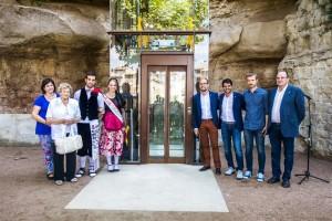 Gironella inaugura l'ascensor hidràulic que permet l'accés al nucli històric i la dinamització d'aquesta part de la vila
