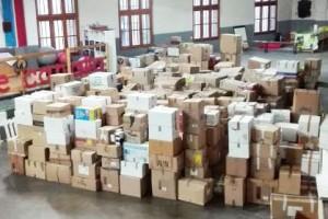 Berga recull més de 800 caixes de roba i bolquers per als refugiats sirians