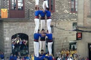 Els Castellers de Berga descarreguen a Solsona un 3 de 7, un 4 de 7 i un 3 de 7 amb agulla