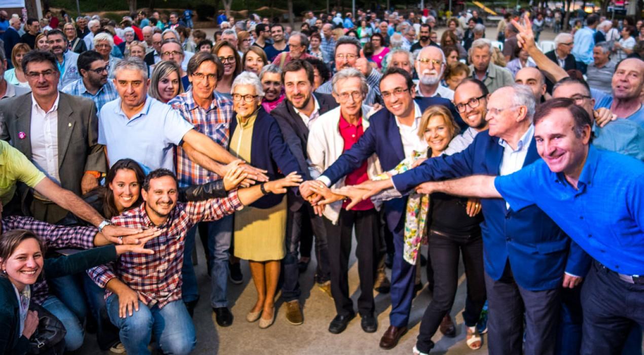 Junts pel Sí presenta a Berga la seva candidatura, davant de més de 300 persones