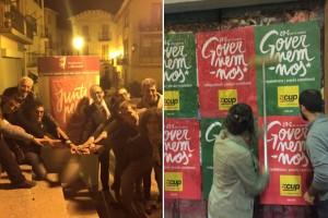 Arrenca la campanya del 27-S amb la tradicional enganxada de cartells