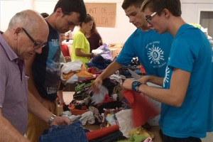 Berga recull, de moment, 170 caixes de roba i bolquers per als refugiats sirians