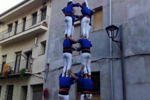 Els Castellers de Berga, a punt d'assolir els 100 castells de 7 pisos