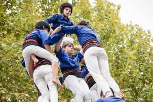 Els Castellers de Berga arriben als 100 castells de 7 pisos