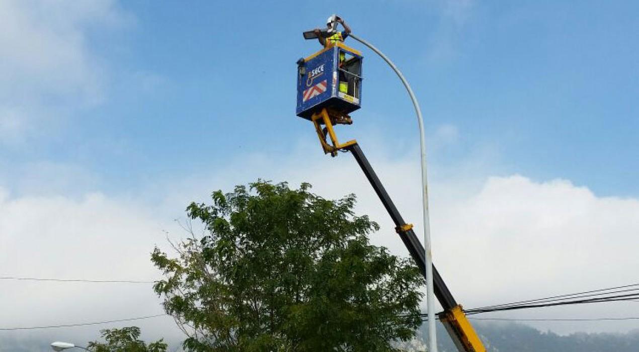 Berga inicia els treballs per substituir l'enllumenat del polígon de la Valldan per llums LED