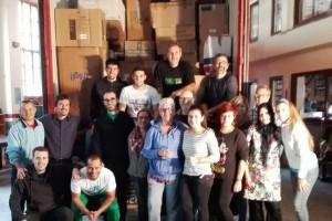670 caixes de roba i bolquers surten de Berga cap a la ciutat grega de Tessalònica, per als refugiats sirians